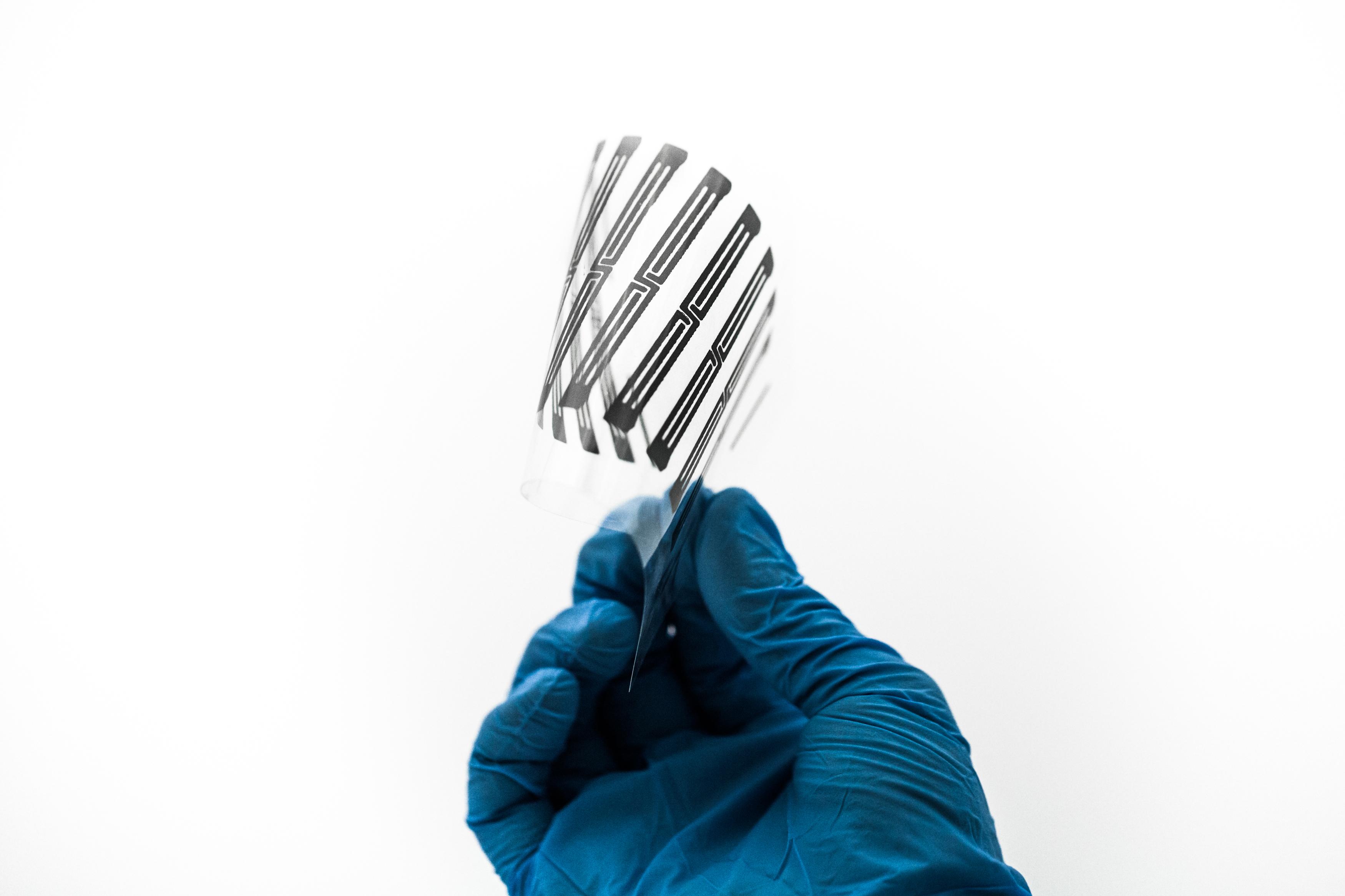 Pattern stampato flessibile al grafene